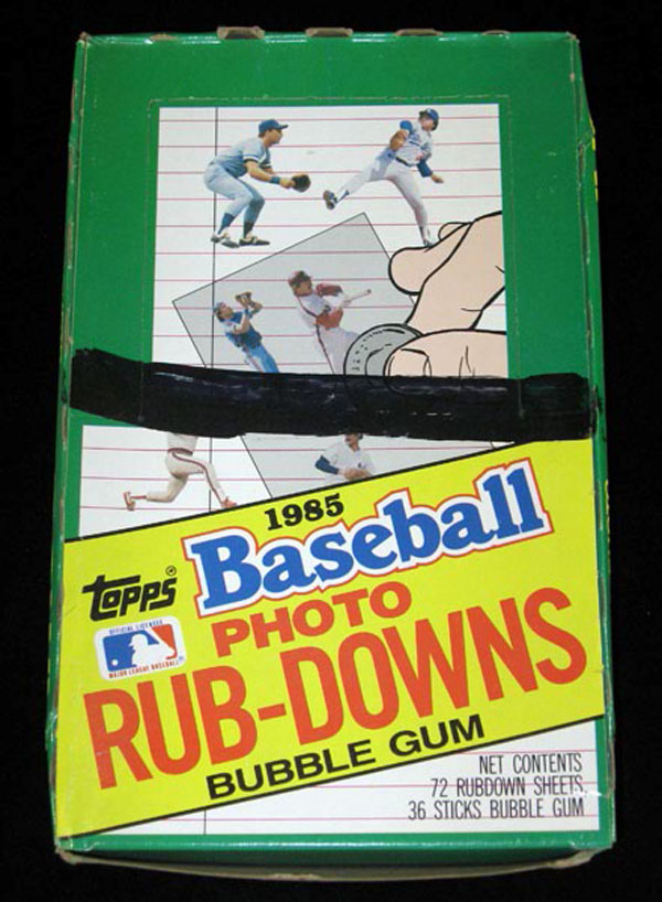 1985 Topps Baseball Rub Downs Box Ryan Ripken